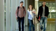 LS College Students Walking In The Corridor video
