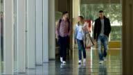 LS College Students Walking In The Corridor video