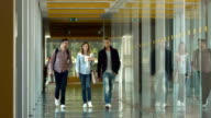 SLO MO DS College Students Walking In The Corridor video