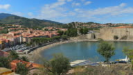 Collioure, bay of village in the south of France, Pyrenees Orientales, Languedoc Roussillon video