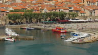 Collioure harbor in the south of France, Pyrenees Orientales, Languedoc Roussillon video