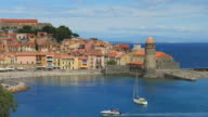 Collioure, typical village in the south of France, Pyrenees Orientales, Languedoc Roussillon video
