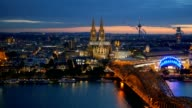 Cologne Cathedral and Hohenzollern Bridge. Cologne, Germany video