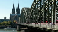 Cologne cathedral and Hohenzollern bridge video