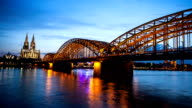 Cologne Cathedral At Night - Time Lapse video