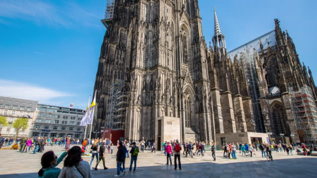 Cologne cathedral church in Germany. video