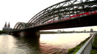 Cologne Cathedral with Hohenzollern Bridge video