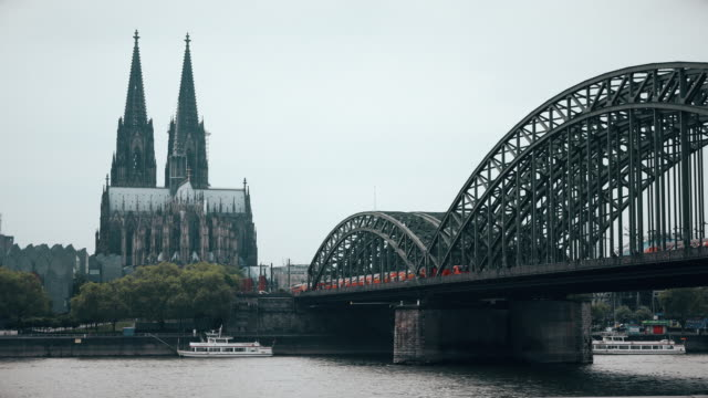 Cologne Dome Cathedral City view video