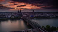 Cologne Germany and Rhine River video