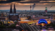 Cologne Skyline with Cathedral - Germany video