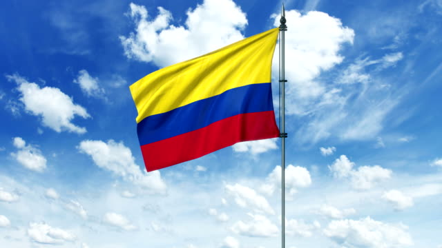 Colombia flag animation, alpha channel video
