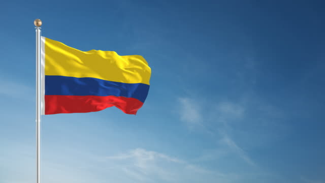 4K Colombia Flag - Loopable video