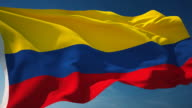 Colombia Flag - Loopable video