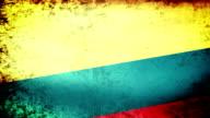 Colombia Flag Waving, grunge look video