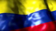Colombia Flag waving, looping video