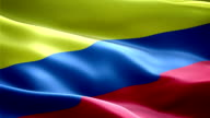 Colombia national flag. (New surge and lighting effect) video
