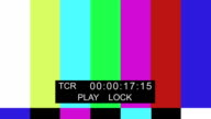 TV Color bar with timecode video