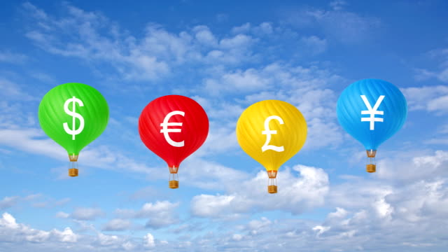 Color currency hot air balloons video