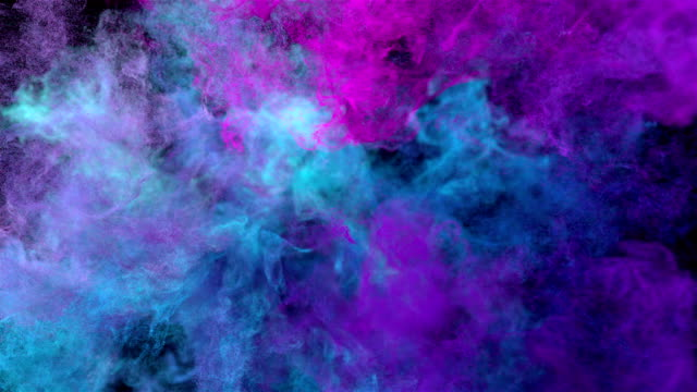 Color explosion on black 'Cold neon' video