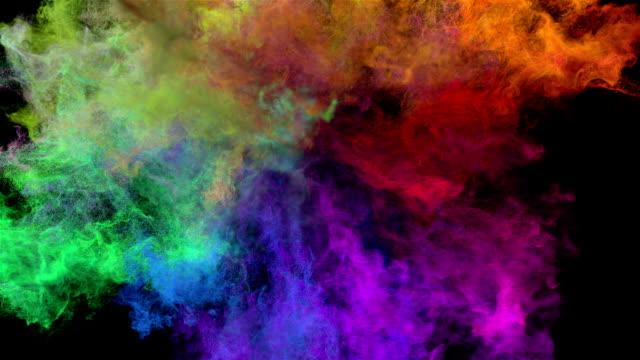 Color explosion on black 'Spectrum' video