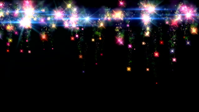 color fireworks curtain video