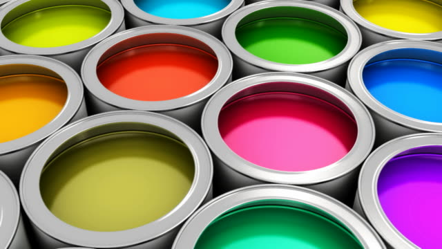 Color paint cans video