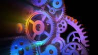Color rotating gears video