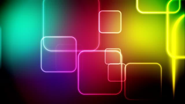 Color squares loop video