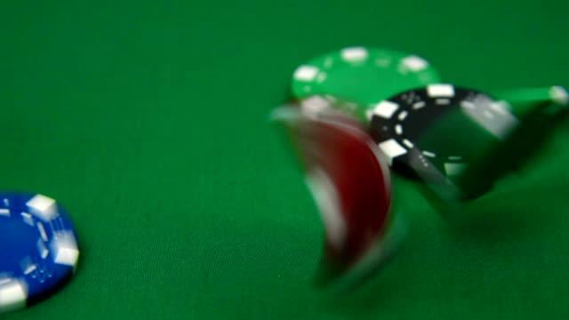 Color stacks of poker chips video