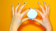 Color woman nails, fashion manicure video