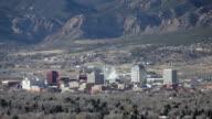Colorado Springs city skyscrapers coal power plant Pikes Peak video