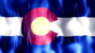Colorado State Flag Animation video