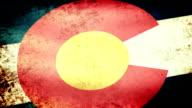 Colorado State Flag Waving, grunge look video