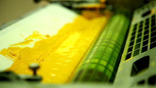 coloration in the printing equipment (yellow) video