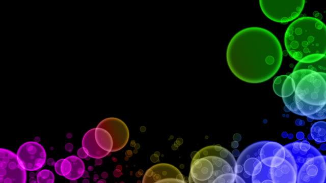 Colored bubble background video