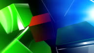Colored Cube Background video