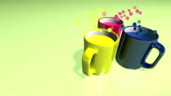 colored cups that release exotic scents video