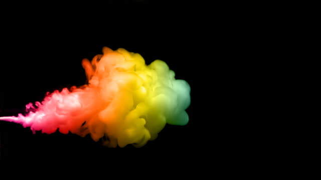 Colored Ink Cloud (Slow Motion) video