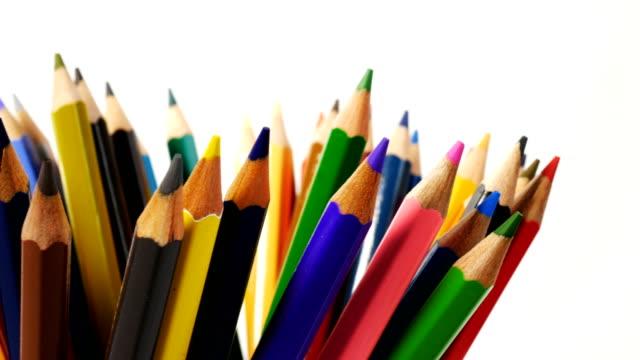 Colored pencils in a pencil case video