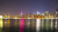 colored reflection manhattan night life 4k time lapse from nyc video