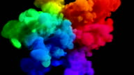 Colored smoke explosion on black 'Spectrum', variation 1 video