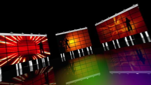 Colorful 3D Disco - HD, Loop video