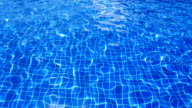 colorful abstract of water surface in swimming pool video