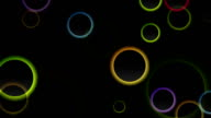 Colorful abstract rings video animation video
