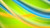 Colorful abstract shiny flowing waves video animation video