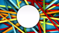 Colorful abstract stripes motion graphic design video