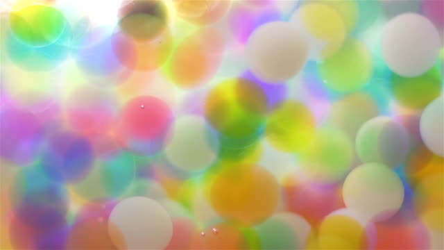 Colorful Balls Light Reflection Background video