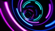 Colorful blue and pink funnel wallpaper video