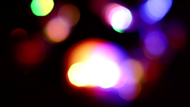 Colorful Bokeh lights background video