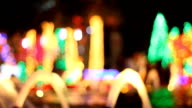 Colorful bokeh of christmas night video